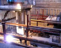 Для ускорения процесса строительства была организована круглосуточная работа